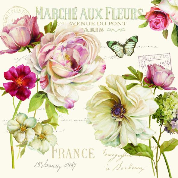 Fransk Rose Servietter