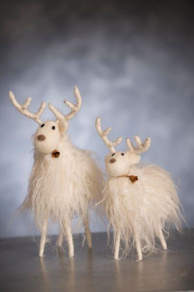 Hvid Filt Rensdyr